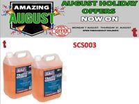 SET OF 2 SEALEY SCS003 TFR DETERGENTS WITH WAX CONCENTRATED 5LTR