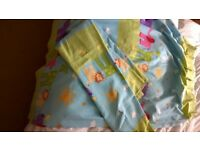 Professionally made NURSERY CURTAINS. Pinch Pleat. ANIMALS. Lined Cotton.