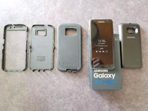 Galaxy S7 Edge Comme Neuf Case Otterbox + Back Case Batterie.