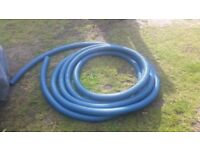 Blue Twinwall Ducting 63mm Coil - Approx 16 metres - suitable for underground water MDPE pipe