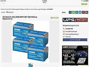 To purchase 4 pack 12AH or 14AH batteries for 48volt Scooter
