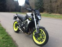 Yamaha MT09 ABS, 2015, low miles, unique paint, lots of extras