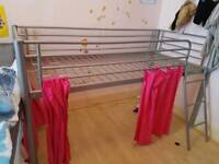 Mid height cabin single bed metal