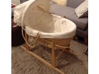 Mamas and papas moses basket for sale