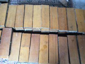 Reclaimed wooden tiles