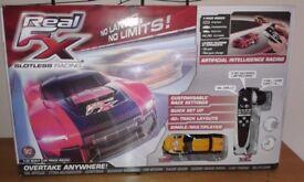 REAL FX SLOTLESS RACING CARS & TRACK. RC CARS