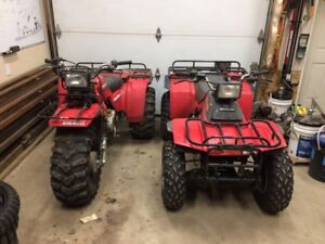 1986 Honda trx250 and atc250es big red
