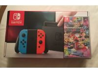 BRAND NEW Nintendo Switch Console & SEALED Mario Kart 8 Deluxe