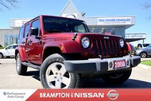 2009 Jeep WRANGLER UNLIMITED Sahara WOW Only 26K's!!!  *Leather 