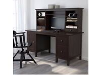 Ikea HEMNES desk complete with add-on unit & office chair (£374 rrp)
