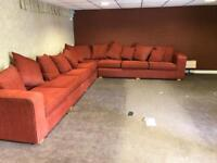 Very large fabric corner sofa as new condition 15 x 11