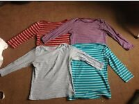 Stripy cotton tops size 14
