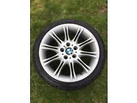 Genuine BMW E46 MV2 Front Alloy with Pirelli Tyre
