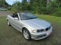 2002 '02' BMW 320 Ci 2.2 CONVERTIBLE IN MET SILVER/BLACK HOOD ONLY 80,000 MILES