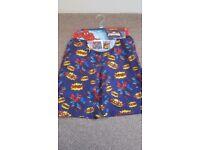 Brand new Spiderman swim shorts & bag