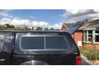 Nissan Navara snug top. With sliding windows