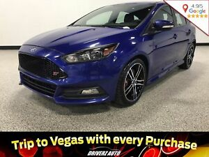 2015 Ford Focus ST CLEAN CARPROOF, LOADED, LEATHER RECARO SEATS