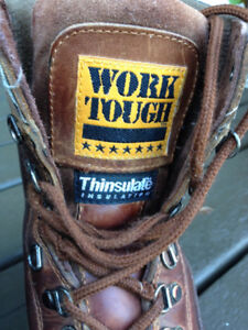 Work Tough Insulated Work Boots Size 10