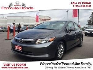 2012 Honda Civic LX | LOW KM! | ONLY $11,500 + TAXES!