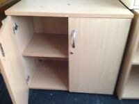 Four office storage cupboards