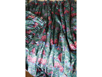 PAIR OF CURTAINS/DRAPES...LINED SET...80'' LONG...TOPS EACH GATHERED TO 32 inches