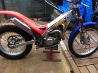 Trials bike , year 2000 new rear mudguard,good tyres,recent front and rear break pads.needs a tidy