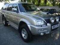 2003 03 Mitsubishi L200 2.5 TD Ltd Warrior Pick up 4x4 manual leather 90k PX