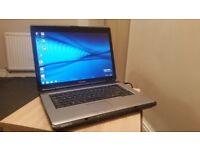 Toshiba 3 GB Ram 160 GB Windows 7 & Office 2010 laptop