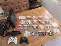 Xbox 360 Console (Slim, 4GB Hard Drive) + LOTS of Games + 2 Wireless Controllers + Kinect