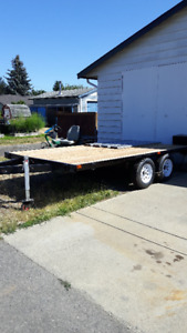 2011 14' Rebuilt Flat Deck Trailer with Ramps