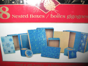 Storage or Gift Boxes-set of 8