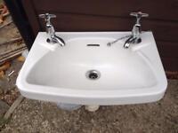 Small White ceramic sink