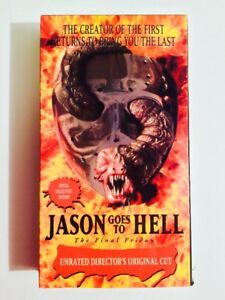 JASON GOES TO HELL VHS CASSETTE UNRATED DIRECTOR'S ORIGINAL CUT