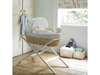 John Lewis Moses basket and stand New unused