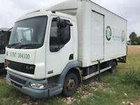 Daf 45/170 ,box lorry with tail lift