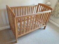 Mamas & Papas Drop Side Oak Cot