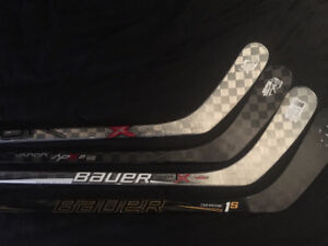 Top of the Line BAUER Sticks - Apx, 1x, 1s