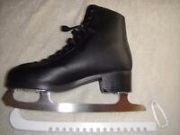 SFR - Galaxy Ice Skate - Black- Adults Figure Ice Skates - Size 9 with Carry Bag