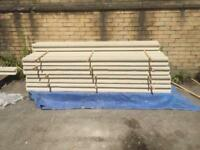 7ft intermediate concrete fence posts
