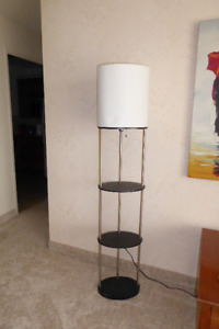 Two Floor Lamps with Shelves