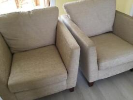 Two M&S armchairs