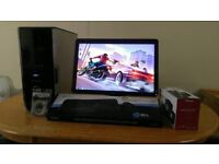 """Fast SSD Dell XPS 430 Quad Core Gaming Desktop Computer PC With Dell 21"""" Widescreen HD 1080"""