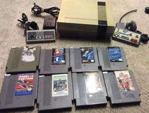 Nintendo NES With 2 Controllers and 8 Games!