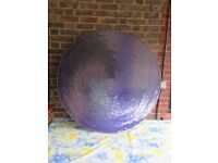 Retro 4 foot purple sequined wall hanging
