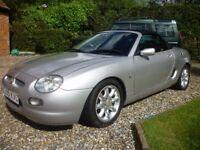 MGF Sports Car, X-reg, 2001, Silver, 1.8 Ptrl, new hood. 9 mths MOT, FSH & Paperwork. VGC. £995.00