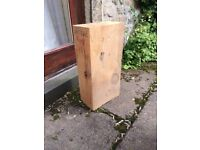 block of carving wood antique pine 7in; X 11in; X 24in block of wood for carving or turning