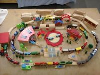200 piece Brio & ELC wooden railway set includes 42 trains