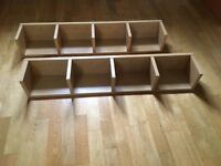 Two hanging book shelves
