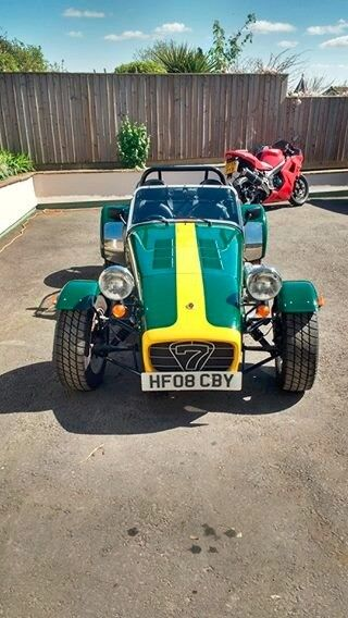 Caterham Super Seven Road Sport - 2008 1.6 K-Series - Classic BRG with Yellow stripe