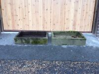 Two Concrete Plant Troughs